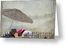 Building Sandcastles Greeting Card by Joanne Kocwin