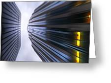 Buildings Abstract Greeting Card by Svetlana Sewell