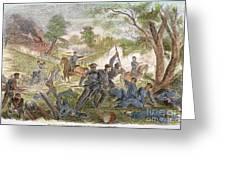Bull Run: Rebel Bayonets Greeting Card by Granger