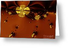 Bumble Beez Over Chocolate Lake . S19 Greeting Card by Wingsdomain Art and Photography