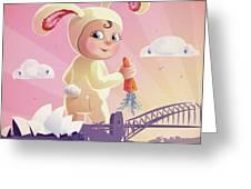 Bunny Mae Greeting Card by Simon Sturge