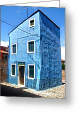 Burano Island - Strange Blue House Greeting Card by Gregory Dyer