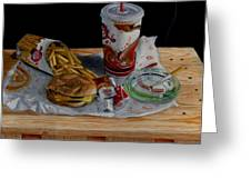 Burger King Value Meal No. 1 Greeting Card by Thomas Weeks