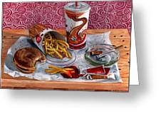 Burger King Value Meal No. 3 Greeting Card by Thomas Weeks