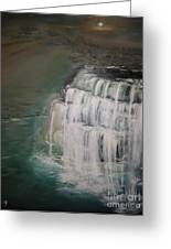 Burgess Falls Greeting Card by Delnora Reed