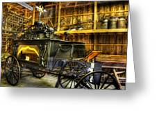 Burial Hearse Wagon Coach - Vintage - Nostalgia - Western - Antique  Greeting Card by Lee Dos Santos