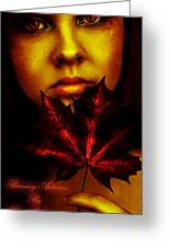 Burning-autumn Greeting Card by Hend