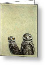 Burrowing Owls Greeting Card by James W Johnson