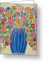 Burst Of Flowers Greeting Card by Elizabeth Langreiter