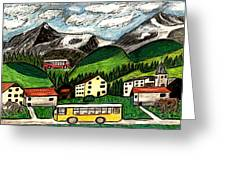 Bus Travel Greeting Card by Monica Engeler