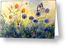 Butterfly Garden Greeting Card by Peggy Wilson