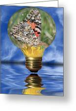 Butterfly In Lightbulb Greeting Card by Shane Bechler