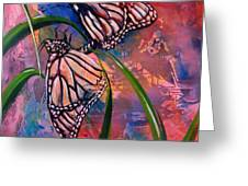 Butterfly Love Greeting Card by AnnaJo Vahle