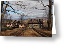 Cabin In The Woods Greeting Card by Robert Margetts