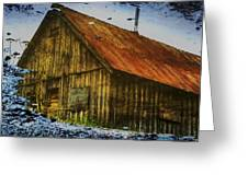 Cabin Reflect Greeting Card by Tom Liesener