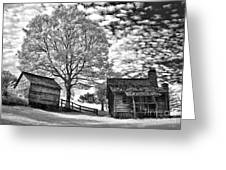 Cabin Under Buttermilk Skies I Greeting Card by Dan Carmichael