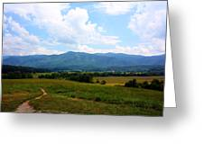 Cades Cove Greeting Card by Susie Weaver
