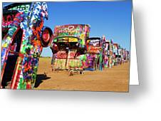 Cadillac Ranch 2 Greeting Card by Lana Trussell