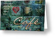 Cafe Greeting Card by Evie Cook