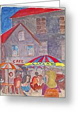 Cafe Place De Opera Paris Greeting Card by Fred Jinkins