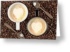 Caffe Latte For Two Greeting Card by Gert Lavsen