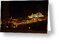 Calahorra At Night Greeting Card by RicardMN Photography