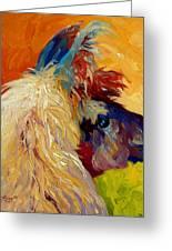 Calico Llama Greeting Card by Marion Rose
