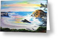 California Coast Greeting Card by Susan  Clark