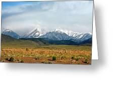 California Desert Landscape Greeting Card by Gilbert Artiaga