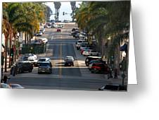 California Street Greeting Card by Henrik Lehnerer