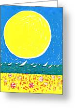 California Sun Greeting Card by Donovan OMalley