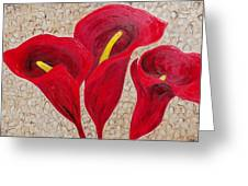 Calla Lily Majestic Red Greeting Card by Darlene Keeffe