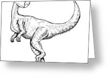 Calustra - Dinosaur Greeting Card by Karl Addison