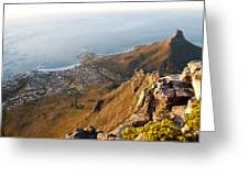Camps Bay Greeting Card by Fabrizio Troiani
