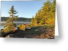 Campsite On Alder Lake Greeting Card by Larry Ricker