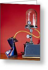 Can Evacuated By Vacuum Pump Greeting Card by Andrew Lambert Photography