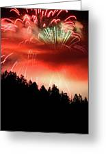 Canada Competing In The Celebration Of Light Fireworks 2011 Greeting Card by Pierre Leclerc Photography