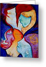 Cancer 7 Faces Of Grieving Greeting Card by Claudia Fuenzalida Johns