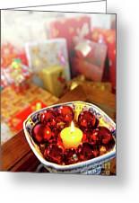 Candle And Balls Greeting Card by Carlos Caetano