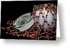 Candle And Beads Greeting Card by Carolyn Marshall