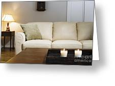 Candlelit Living Room Greeting Card by Andersen Ross