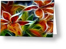 Candy Lily Fractal  Greeting Card by Peter Piatt