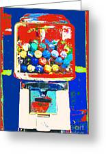 Candy Machine Pop Art Greeting Card by ArtyZen Kids