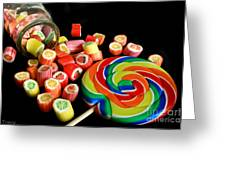 Candy Rocks  Candy Sucker Greeting Card by Tracy  Hall