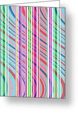 Candy Stripe Greeting Card by Louisa Knight