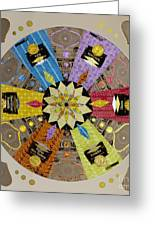 Candy Wrapper Mandala Greeting Card by Fourth and Fith Grades