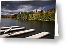 Canoe Lake Greeting Card by Cale Best