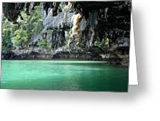 Canoeing In Thailand Greeting Card by Kelly Jones
