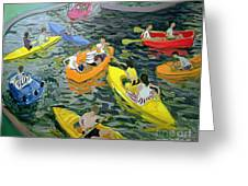 Canoes Greeting Card by Andrew Macara