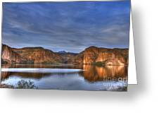 Canyon Lake Greeting Card by Christopher Williams